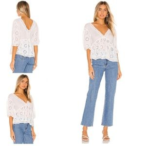 Free People | Sweeter Side Blouse in White New XS